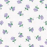 Kwiecisty wzór z purpurowymi różami Zdjęcie Royalty Free