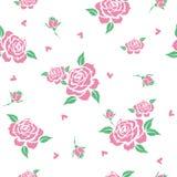 Kwiecisty wzór z różowymi różami Fotografia Stock