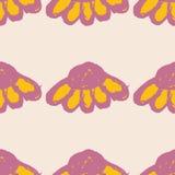 Kwiecisty wzór z wielkimi kwiatów pączkami i Echinacea Prosty bezszwowy wzór dla druku na tkaninie, tkaniny, powierzchnie Fotografia Stock