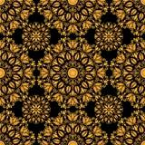 Kwiecisty złocisty dekoracyjny wzór Zdjęcia Stock