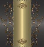 kwiecisty złocisty rocznik Zdjęcia Royalty Free