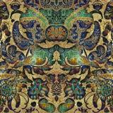 Kwiecisty zielony abstrakcjonistyczny podławy barwiony tło Obraz Stock