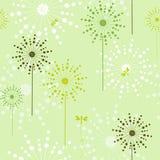 Kwiecisty zielony ekologiczny bezszwowy Obraz Royalty Free