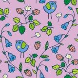 Kwiecistych ogrodowych dzieciaków tła różowy wzór ilustracji