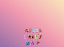 Kwietni durni dnia ilustracja nad różowym tło sztandarem z tekst przestrzenią Zdjęcia Royalty Free