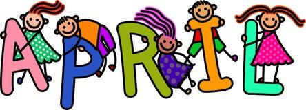 Kwietni dzieciaki Zdjęcie Royalty Free