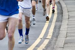 Kwietnia 2006 maratonu biegacze Leeds. Zdjęcia Royalty Free