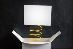 Kwietnia durnia dnia abstrakta pudełko z niespodzianką i dowcipem Fotografia Royalty Free