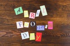 Kwietnia durnia dzień, papierów listy Zdjęcie Royalty Free