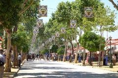 Kwietnia jarmark Seville Zdjęcia Stock