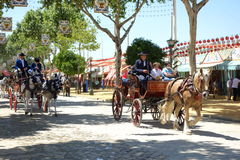 Kwietnia jarmark Seville Fotografia Royalty Free