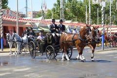 Kwietnia jarmark Seville Zdjęcia Royalty Free