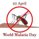 25 Kwietnia malarii światowy dzień Zdjęcia Stock