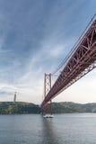 25 Kwietnia most Chrystus królewiątko zabytek Zdjęcie Stock
