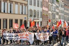 Kwietnia protest przeciw prac reformom w Francja Obraz Royalty Free