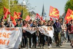 Kwietnia protest przeciw prac reformom w Francja Obrazy Royalty Free