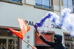 Kwietnia protest przeciw prac reformom w Francja Obrazy Stock