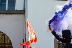 Kwietnia protest przeciw prac reformom w Francja Zdjęcie Stock