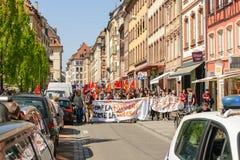 Kwietnia protest przeciw prac reformom w Francja Zdjęcia Royalty Free
