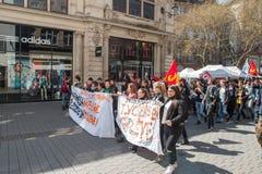 Kwietnia protest przeciw prac reformom w Francja Fotografia Royalty Free