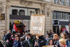 Kwietnia protest przeciw prac reformom w Francja Obraz Stock