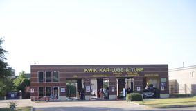 Kwik Kar Lube och trimmar, Fort Worth, Texas royaltyfri bild