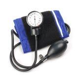 Kwik-manometer voor bloeddrukmeting stock afbeelding