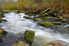 Kwisa. The photo shows a waterfall river Kwisa Royalty Free Stock Photo