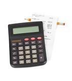 Kwit i kalkulator Fotografia Stock