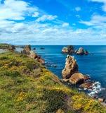 Kwitnąć Atlantycką ocean linię brzegową Obraz Royalty Free