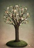 kwitnący drzewo ilustracja wektor