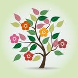 Kwitnący drzewo w fantazja stylu royalty ilustracja