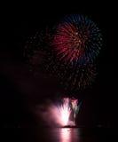 Kwitnący fajerwerk międzynarodowy fajerwerku festi Fotografia Royalty Free