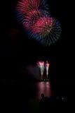 Kwitnący fajerwerk międzynarodowy fajerwerku festiwal Zdjęcie Stock