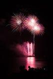 Kwitnący fajerwerk międzynarodowy fajerwerku festiwal Obrazy Royalty Free