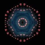 Kwitnący mandala z Yang ilustracji