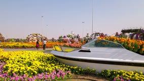 Kwitnący miejsce czasu upływ od Dubai magii ogródu zbiory wideo