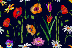 Kwitnący lat wildflowers ilustracja wektor