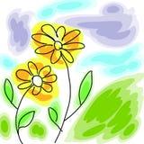 kwitnie akwarelę Ilustracji