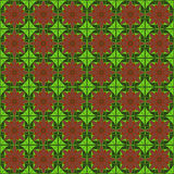 Kwitnie brown czerwieni zieleni trójboka mapy wzoru wektorowego projekt Obrazy Stock