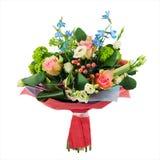 Kwitnie bukiet od wielo- barwionych róż, irys i inny kwitnie Zdjęcie Royalty Free