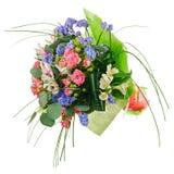 Kwitnie bukiet od wielo- barwionych róż, leluj i inny, kwiat Obraz Stock
