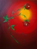 kwitnie czerwień Zdjęcie Royalty Free