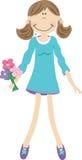 kwitnie dziewczyny ilustracji