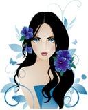 kwitnie dziewczyny Obraz Royalty Free