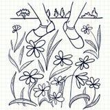 kwitnie gazon royalty ilustracja