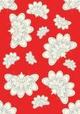 kwitnie japoński czerwony bezszwowego Obraz Royalty Free