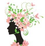 kwitnie kobiety Obrazy Royalty Free