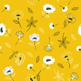 Kwitnie Kwiecistego wzór w kwitnącym botanicznym Bezszwowym vect royalty ilustracja