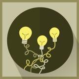 Kwitnie lampy ikony mieszkania wektor ilustracji